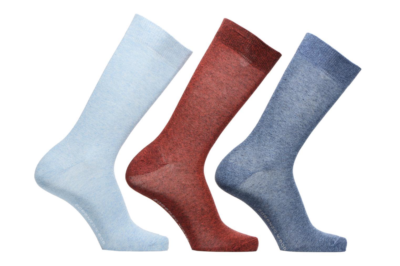 Chaussettes et collants Sarenza Wear Chaussettes Homme Pack de 3 Unies coton Bleu vue détail/paire