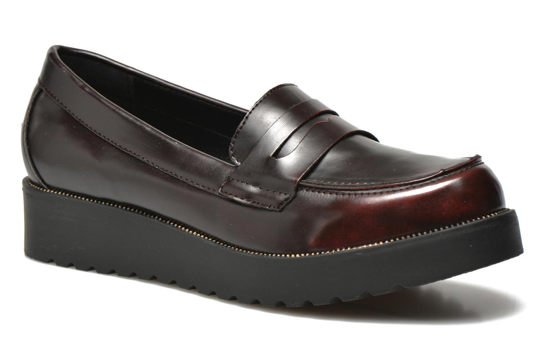 Mocassins I Love Shoes THEVIA Bordeaux vue détail/paire