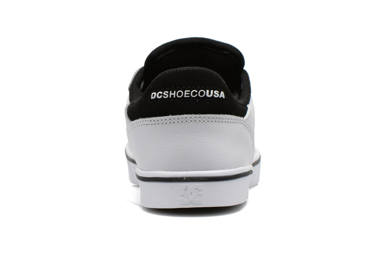 Trainers DC Shoes Notch B White view from the right