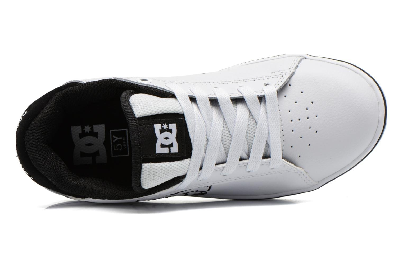 Trainers DC Shoes Notch B White view from the left