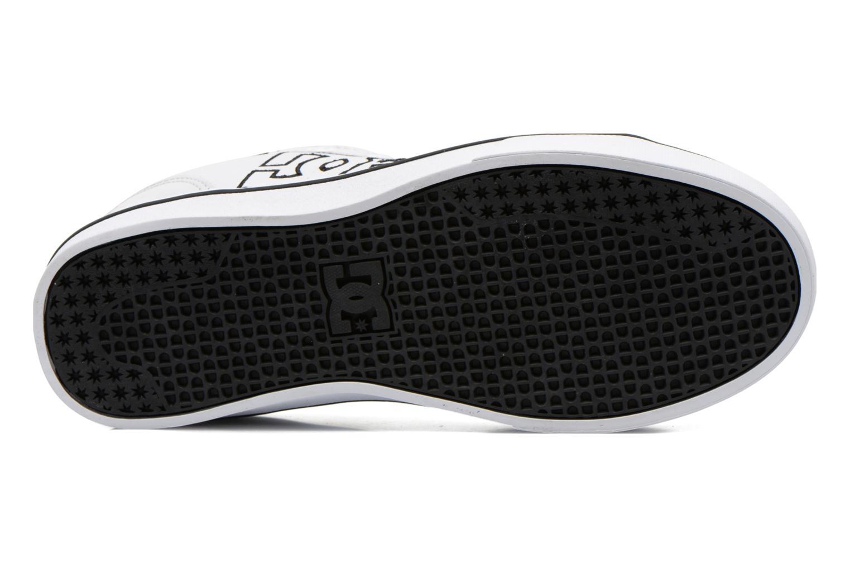 Baskets DC Shoes Notch B Blanc vue haut