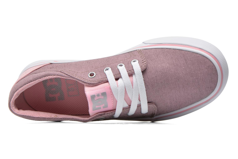 Baskets DC Shoes Trase Tx Se G Rose vue gauche