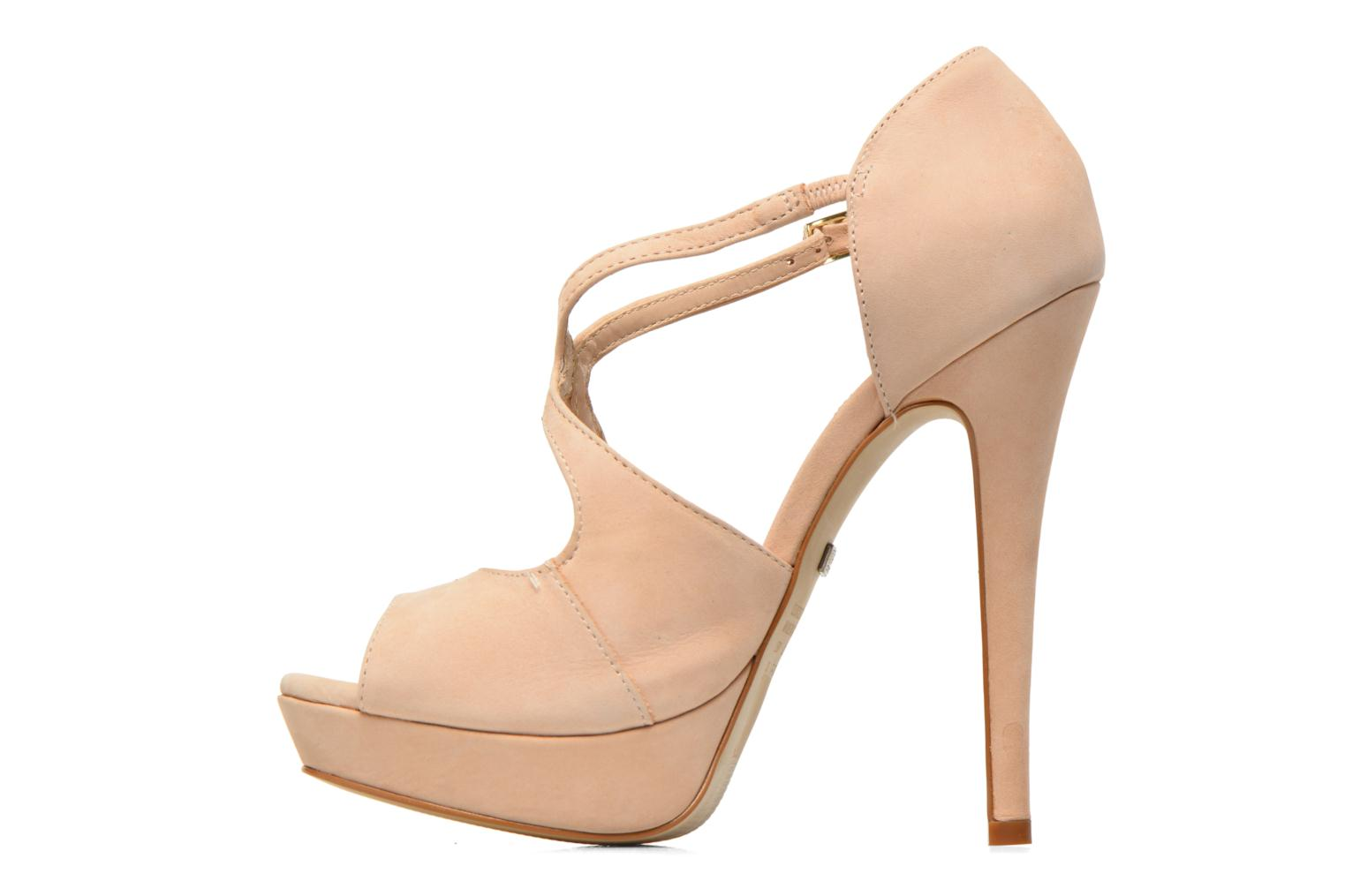 Sandals Buffalo Alicia Beige front view