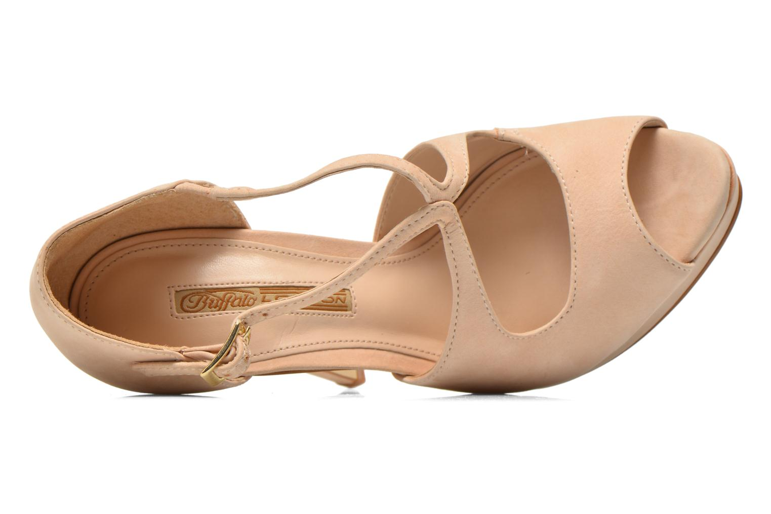 Sandals Buffalo Alicia Beige view from the left