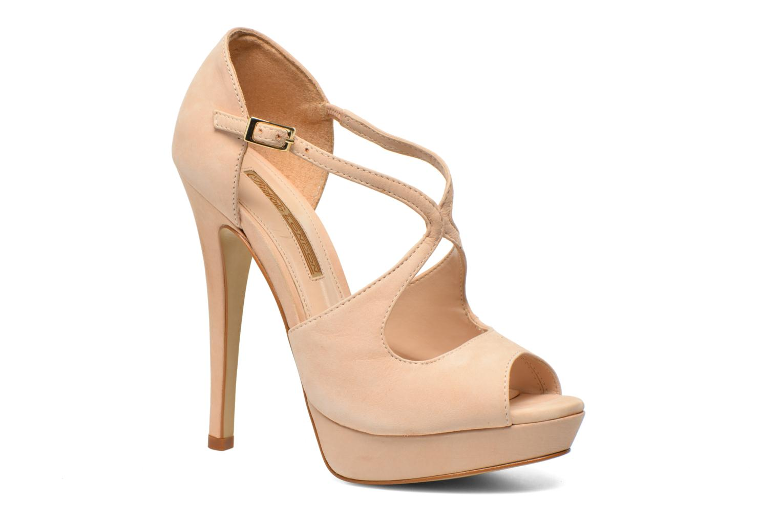 Sandals Buffalo Alicia Beige detailed view/ Pair view