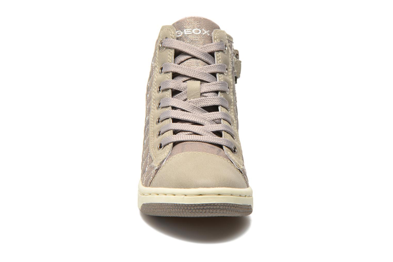 Baskets Geox J Creamy B J54L5B Gris vue portées chaussures