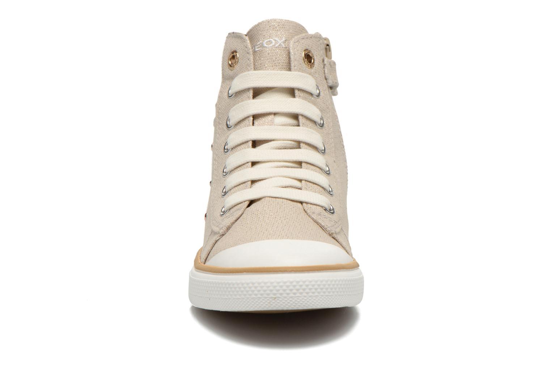 Baskets Geox J Ciak G. B J6204B Beige vue portées chaussures