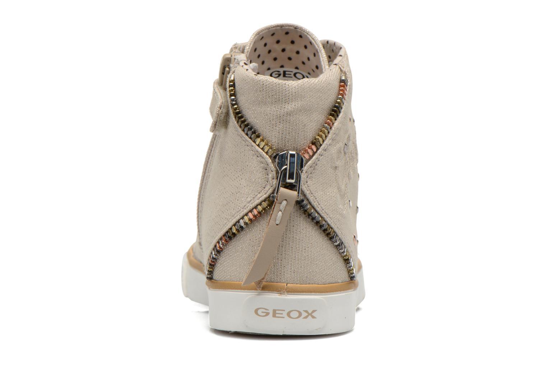 Baskets Geox J Ciak G. B J6204B Beige vue droite