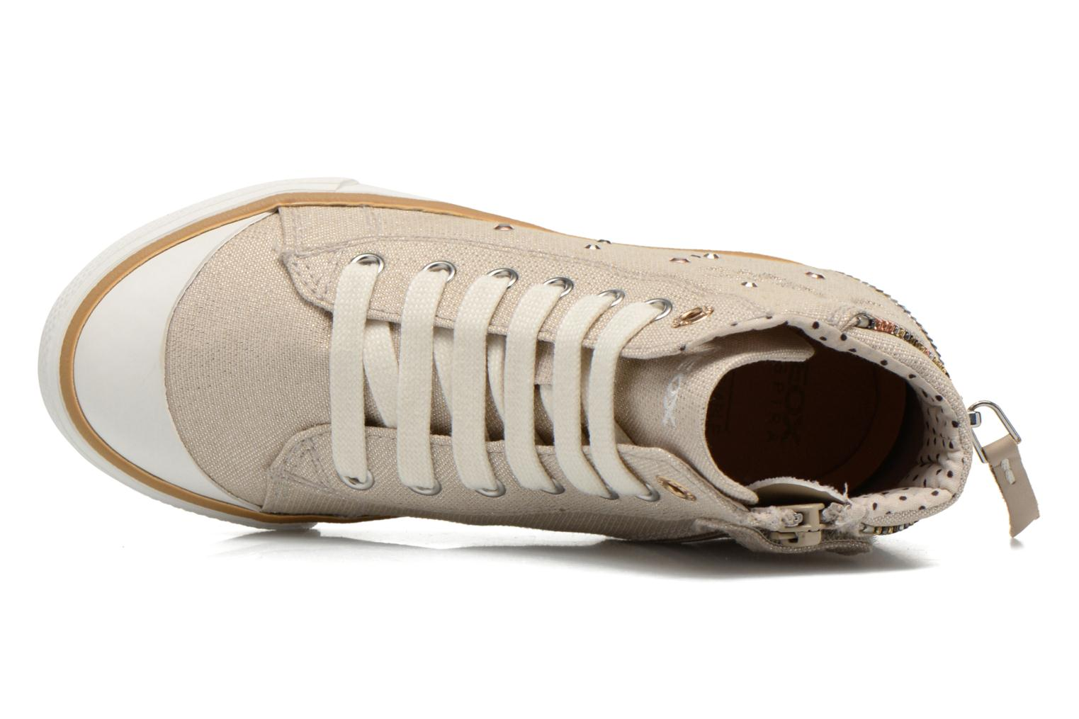 Trainers Geox J Ciak G. B J6204B Beige view from the left