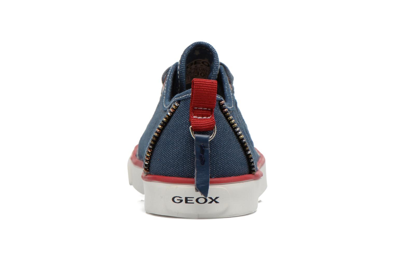 Baskets Geox J Ciak G. E J6204E Bleu vue droite