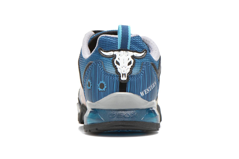 Sneaker Geox J Lt Eclipse J621BA blau ansicht von rechts