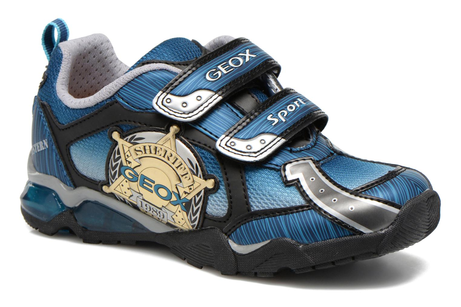 Trainers Geox J Lt Eclipse J621BA Blue detailed view/ Pair view