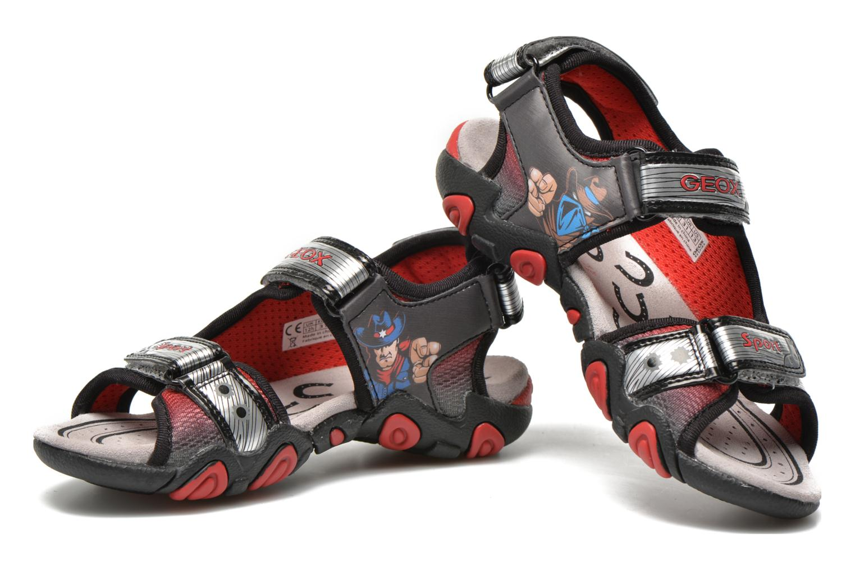 Sandales et nu-pieds Geox J Sand.Strike A J6224A Argent vue 3/4