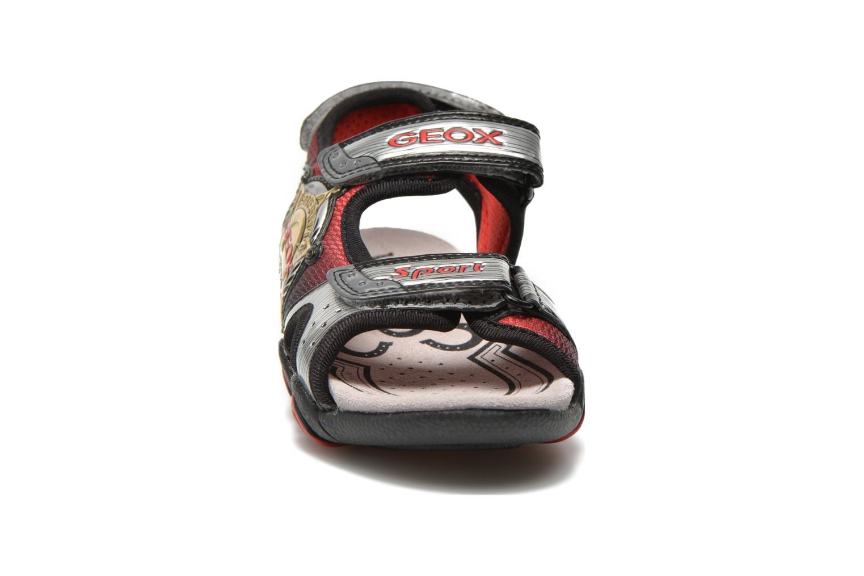 Sandales et nu-pieds Geox J Sand.Strike A J6224A Argent vue portées chaussures