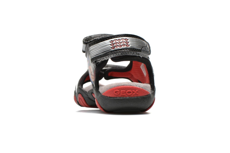 Sandales et nu-pieds Geox J Sand.Strike A J6224A Argent vue droite
