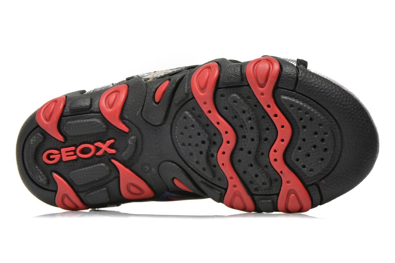 Sandales et nu-pieds Geox J Sand.Strike A J6224A Argent vue haut