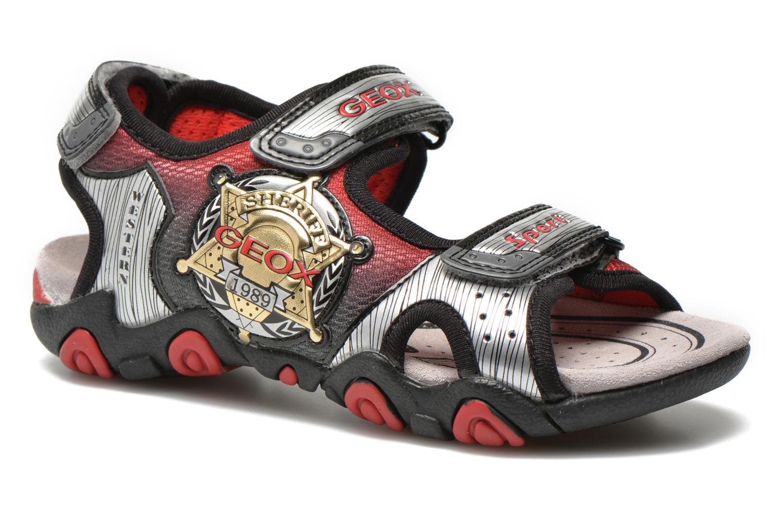 Sandales et nu-pieds Geox J Sand.Strike A J6224A Argent vue détail/paire