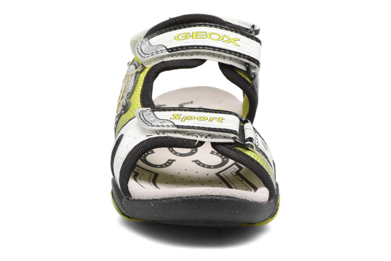 Sandales et nu-pieds Geox J Sand.Strike A J6224A Blanc vue portées chaussures