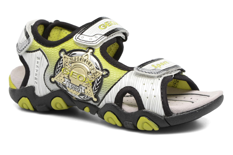 Sandales et nu-pieds Geox J Sand.Strike A J6224A Blanc vue détail/paire