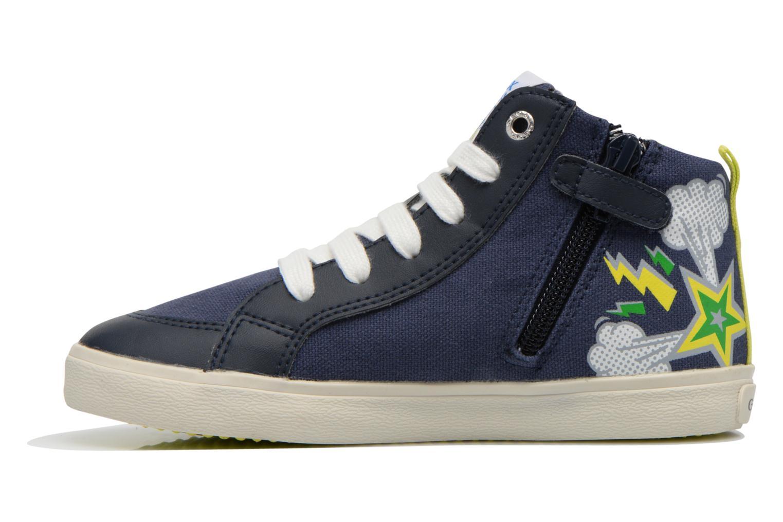 Sneaker Geox J Kiwi B. C J62A7C blau ansicht von vorne