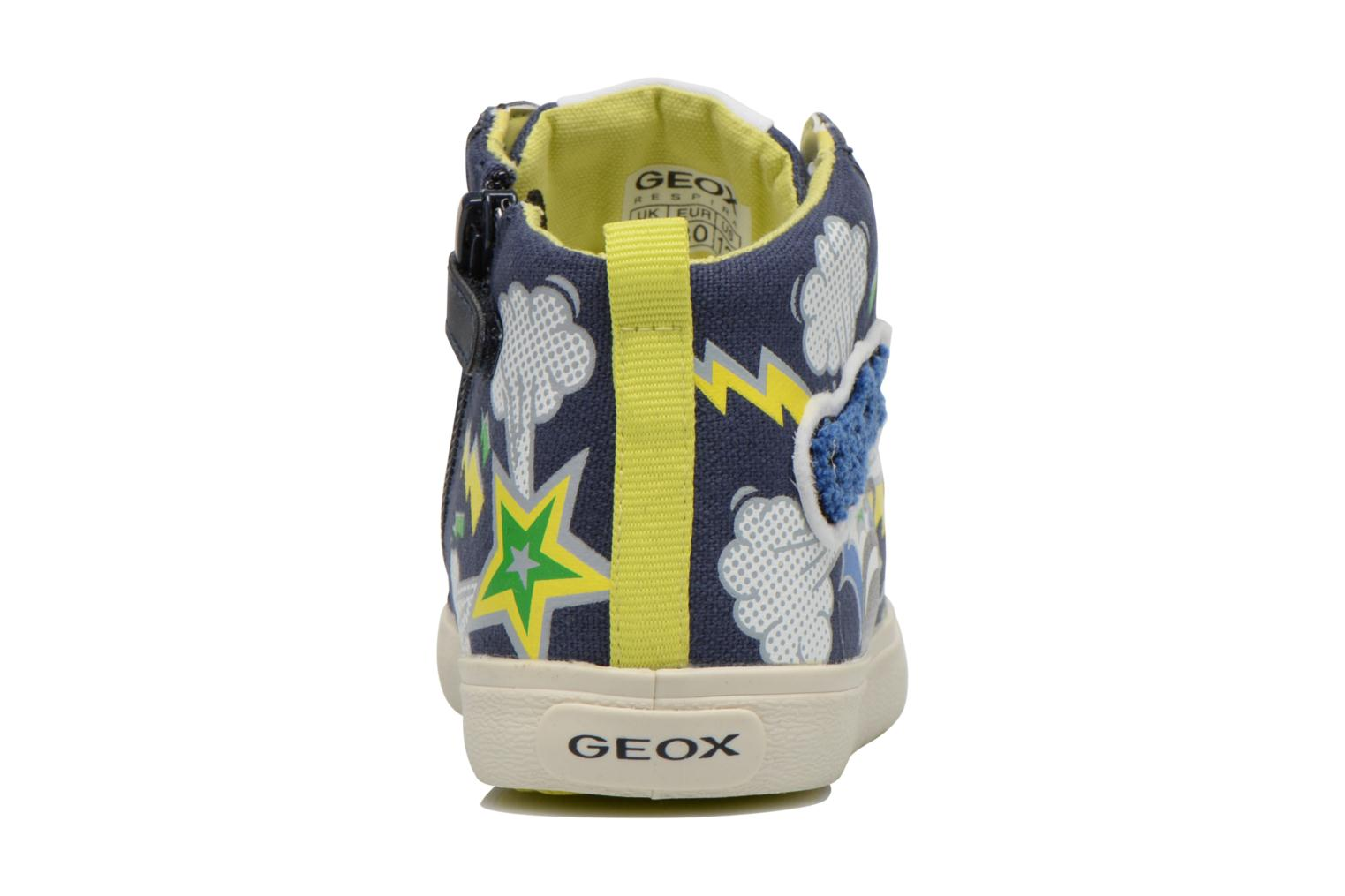 Trainers Geox J Kiwi B. C J62A7C Blue view from the right