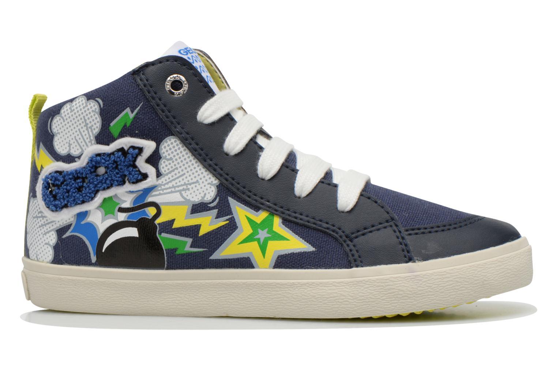 Sneaker Geox J Kiwi B. C J62A7C blau ansicht von hinten