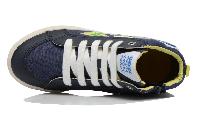 Sneaker Geox J Kiwi B. C J62A7C blau ansicht von links