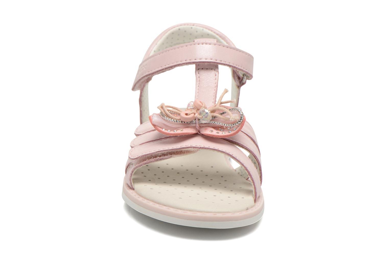 Sandales et nu-pieds Geox J Sand.Giglio A J62E2A Rose vue portées chaussures