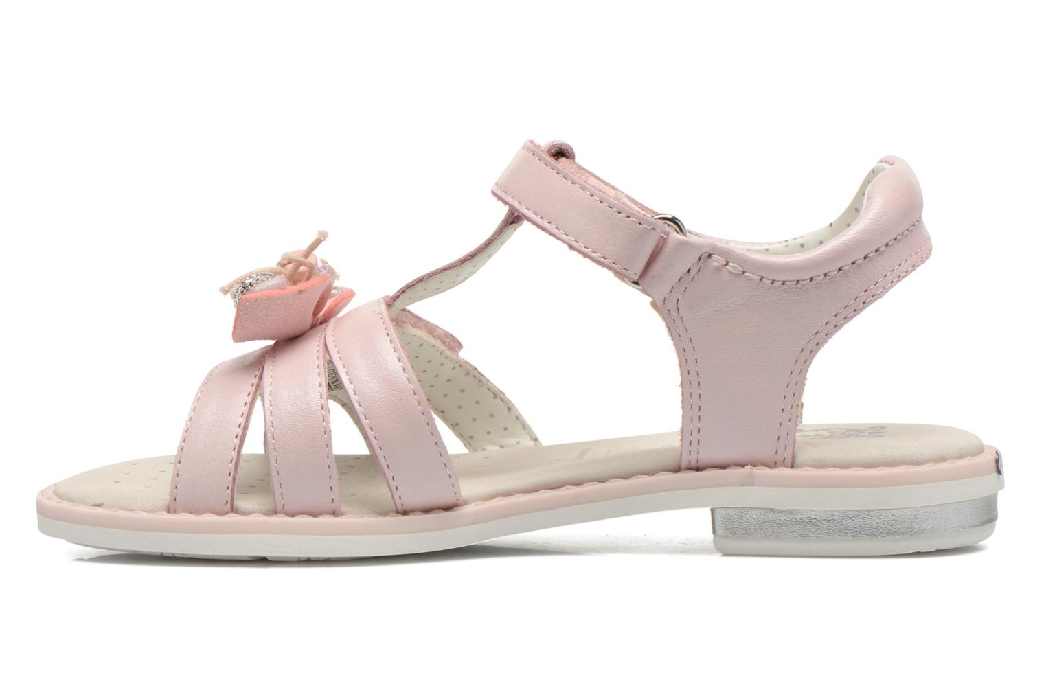 Sandales et nu-pieds Geox J Sand.Giglio A J62E2A Rose vue face