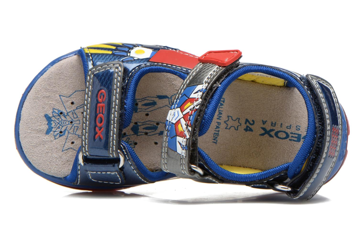 Sandals Geox B Sand.Todo B. A B620GA Blue view from the left