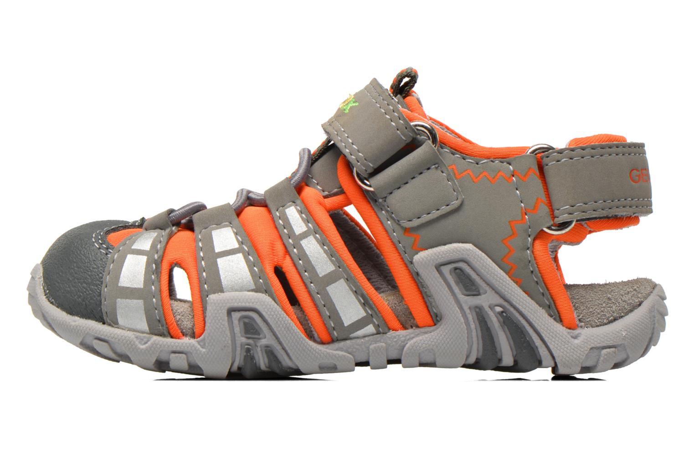 Sandales et nu-pieds Geox B Sandal Kraze B B6224B Gris vue face