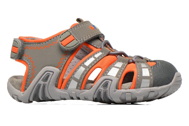 Sandales et nu-pieds Geox B Sandal Kraze B B6224B Gris vue derrière