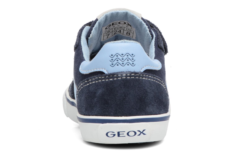 Baskets Geox B Kiwi B. E B62A7E Bleu vue droite