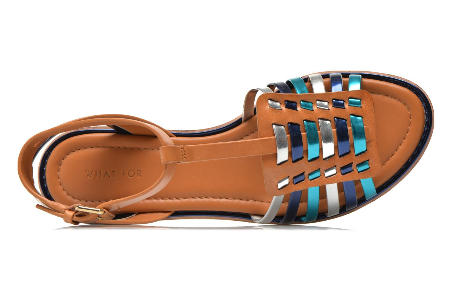 Sandals What For Pralie Blue view from the left