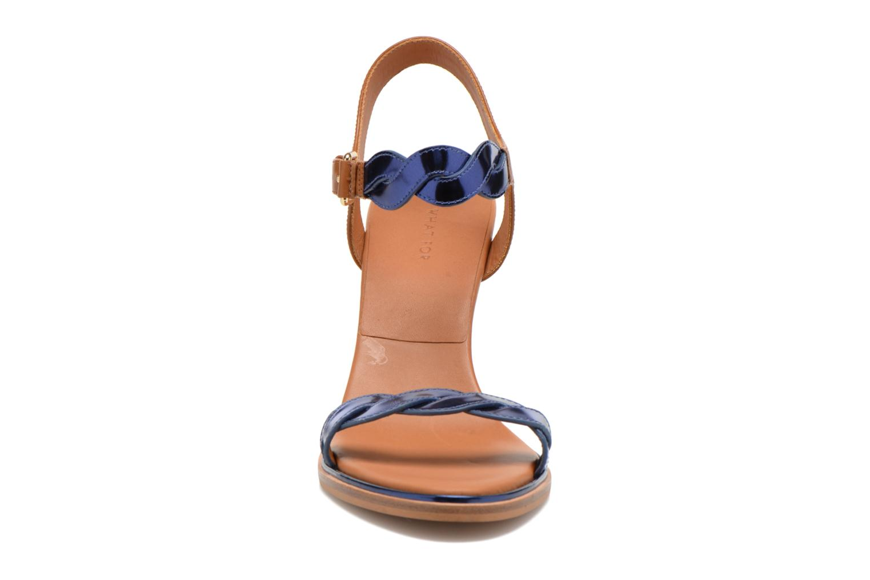 Sandalias What For July Azul vista del modelo