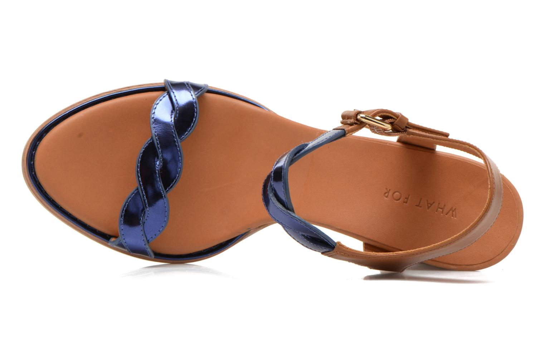 Sandales et nu-pieds What For July Bleu vue gauche