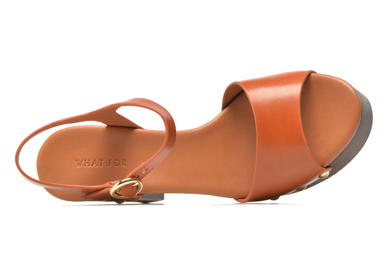 Sandalen What For Tima braun ansicht von links