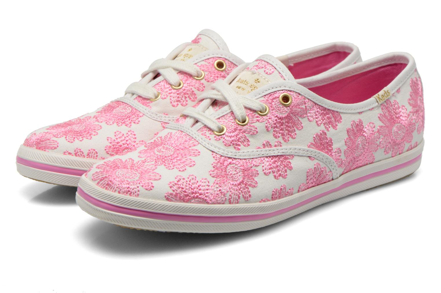 Baskets Keds Ch Daisy Embroidery Rose vue 3/4