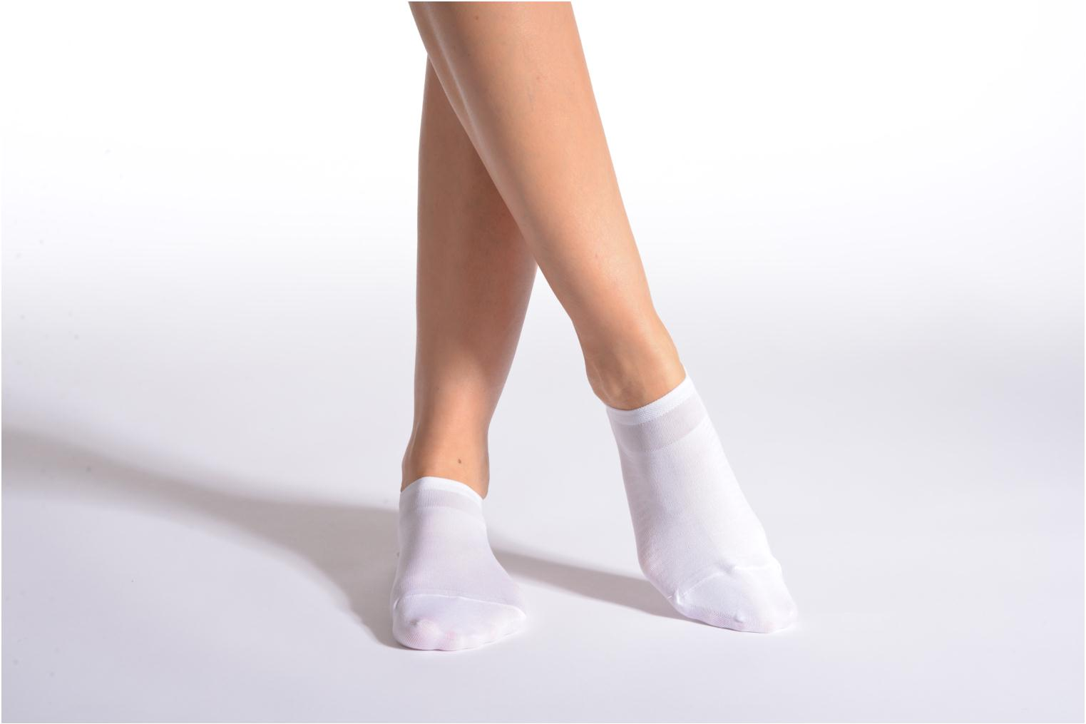 Socks & tights BLEUFORÊT Low ankle socks F.ECOSSE White detailed view/ Pair view