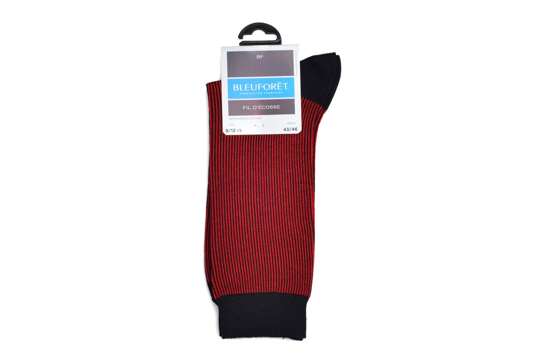 Chaussettes et collants BLEUFORÊT Chaussettes RAYURES F.E Rouge vue derrière