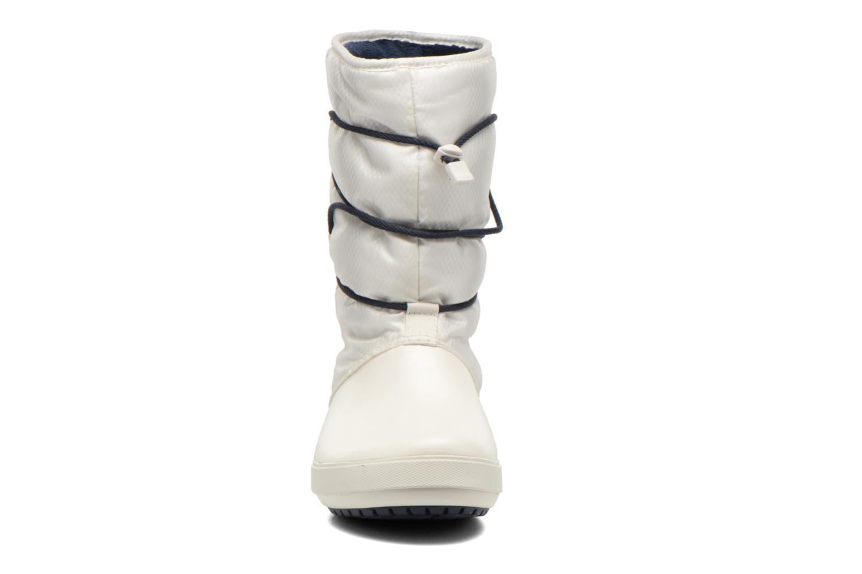 Botines  Crocs Crocband II.5 Cinch Boot W Blanco vista del modelo