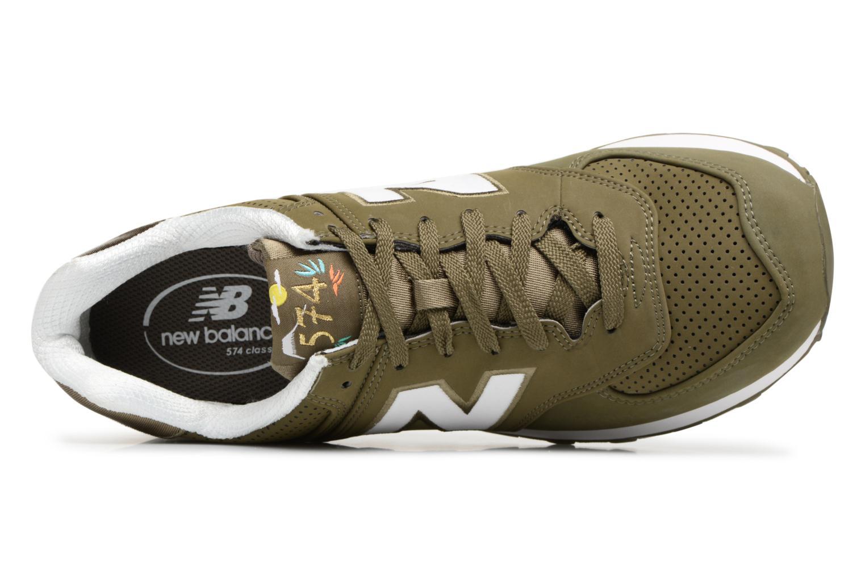 Sneaker New Balance ML574 D grün ansicht von links