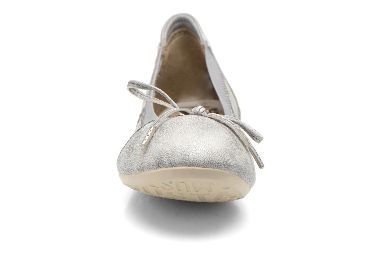 Ballerinas Mustang shoes Leah silber schuhe getragen