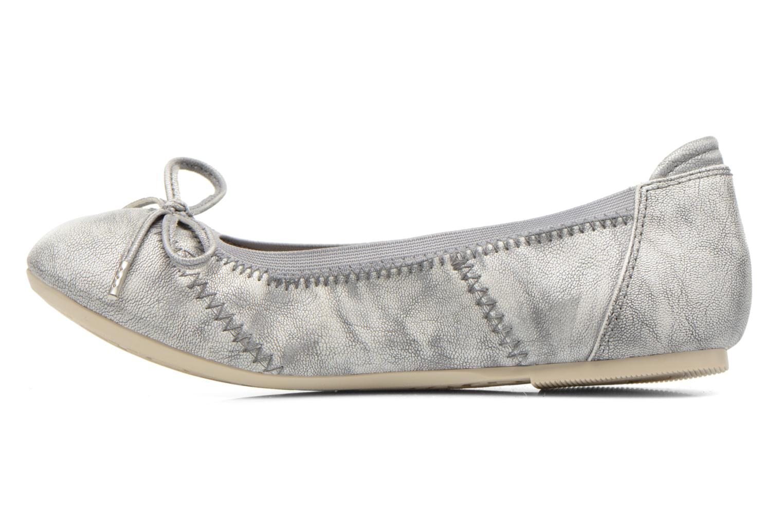 Ballet pumps Mustang shoes Leah Silver front view