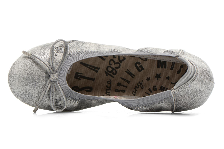 Ballerinas Mustang shoes Leah silber ansicht von links