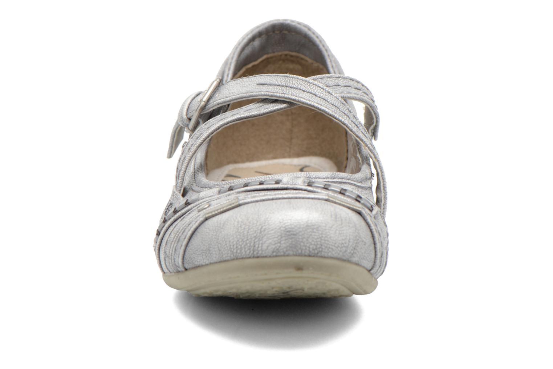 Ballerinas Mustang shoes Maya Kids silber schuhe getragen