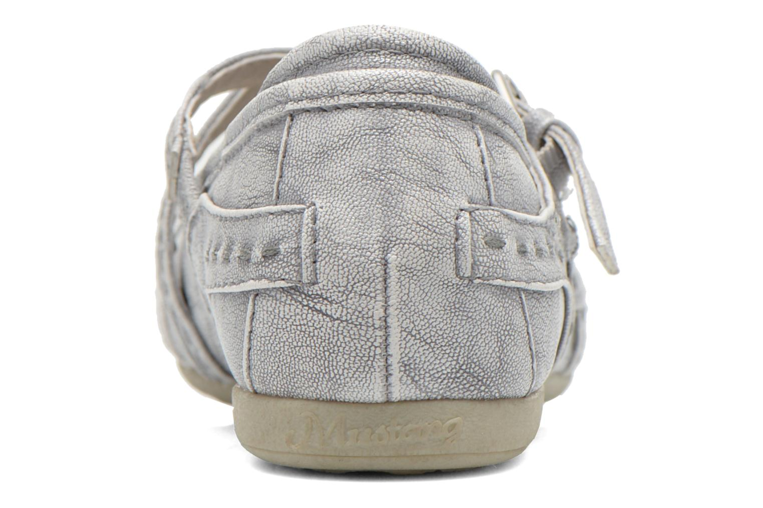 Ballet pumps Mustang shoes Maya Kids Silver view from the right