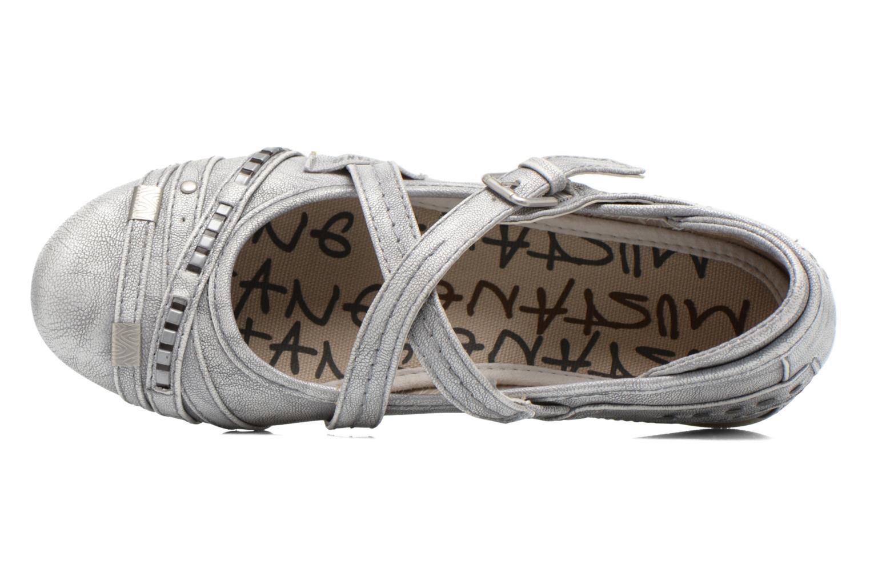 Ballerinas Mustang shoes Maya Kids silber ansicht von links