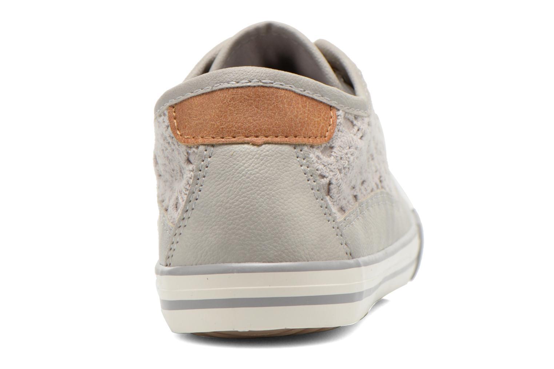 Sneaker Mustang shoes Hannah grau ansicht von rechts