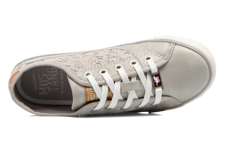 Sneaker Mustang shoes Hannah grau ansicht von links